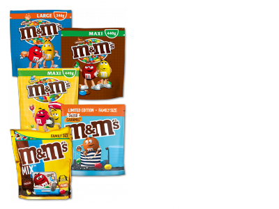 M&M's - Different varieties, 340g-440g
